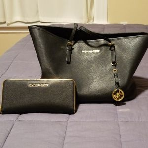 Michael Kors purse with wallet